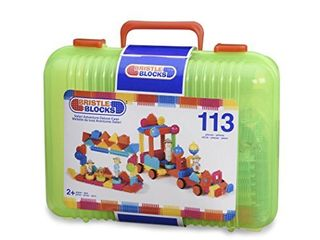 Bristle Blocks by Battat The Official Bristle Blocks 113 Pieces in a Carry Case Creativity Building Toys for Dexterity and Fine Motricity Bpa Free 2 Years    3101Z