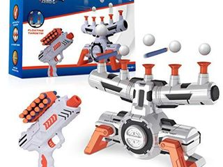 USA Toyz Astroshot Zero G Shooting Game   Nerf Compatible Floating Hovering Ball Targets for Shooting with 1 Foam Blaster Toy Gun  10 Floating Ball Gun Targets  12 Foam Darts  and 1 Foam Dart Holder