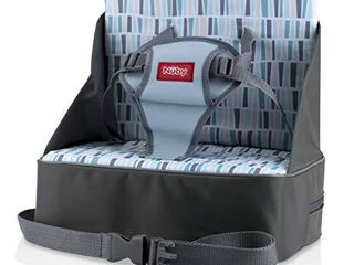 Nuby Easy Go Safety lightweight High Chair Booster Seat  Great for Travel  Gray