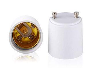 Adamax GU24 to E26 Standard Bulb Adapter  3 Pack  A2426E 5 White