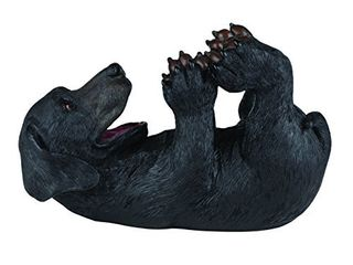True lucky lab Tabletop Wine Bottle Holder Countertop Centerpiece labrador Kitchen Decor for Dog lovers Barware Accessory  Black  One Broken Paw See Pictures