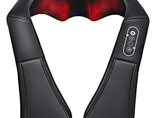 Naipo Shiatsu Back and Neck Massager with Heat Deep Kneading Massage for Neck  Back  Shoulder  Foot and legs  Use at Home  Car  Office