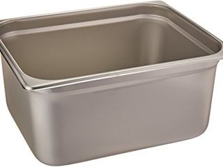 Winco Anti Jamming Steam Pan  Half Size x 6 Inch  Standard Weight Stainless Steel Medium