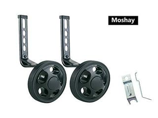 MOSHAY Training Wheels for Children s Bicycle stabiliser for 14 16 18 20 inch Bike   Black