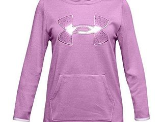 Under Armour Girls  Armour Fleece Graphic Hoodie   Polar Purple  537 Crystal lilac   Youth large