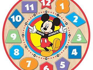 Melissa   Doug Disney Mickey Mouse Wooden Shape Sorting Clock