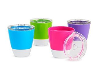 Munchkin Splash Toddler Cups with Training lids  7 Oz  4 Pack