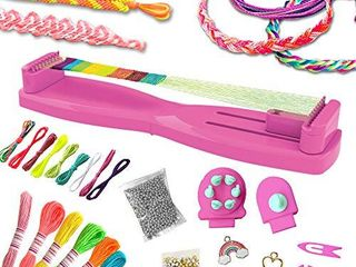 ilY Activity Kings Pura loom Bracelet Making Kit  Bracelet Kit for Girls  Make Unique Awesome 12  Bracelets  Kids Jewelry Making Supplies Age 6