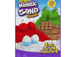 Kinetic Sand Scents  32oz 4 Pack of Cherry  Apple  Chocolate and Vanilla Scented Kinetic Sand