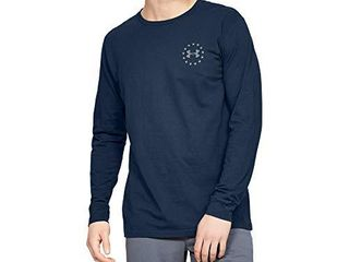 Under Armour Men s Freedom New Flag long Sleeve T Shirt   Academy Blue  408 Steel   X large