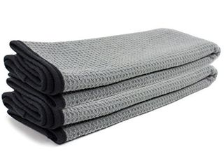 Zwipes Auto 879 2 Professional Microfiber Waffle Drying Towel  25 in  x 36 in  2 Pack