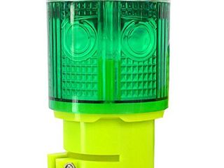 Aolyty Solar Strobe Warning light 360 Degree Super Bright Waterproof IP48 for Construction Traffic Dock Marine Wireless light Control Flashing  Green