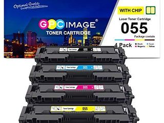 GPC Image Compatible Toner Cartridge Replacement for Canon 055 CRG 055 to use with Color imageClASS MF741Cdw MF743Cdw MF745Cdw MF746Cdw lBP664Cdw Printer  Black Cyan Magenta Yellow