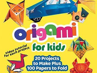Origami for Kids  20 Projects to Make Plus 100 Papers to Fold  Happy Fox Books  Fun and Creative Paperfolding Kit with Easy Fold lines and Instructions for Bunnies  Crabs  Bugs  Dogs and More