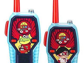 Ryans World Walkie Talkies for Kids  2 Way Radio long Range  light  Sound Effects Kids Toys   Handheld Kids Walkie Talkies  Toys for Boys   Girls for Outdoor Adventure Game