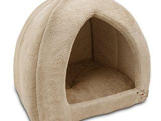 Best Pet Supplies Best Pet SuppliesPet Tent Soft Bed for Dog   Cat  Inc  Inc    Tan  19  x H  19