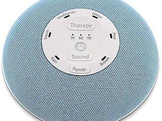HoMedics Deep Sleep Mini Portable Sleep Sound Machine   3 Programs  3 White Noises  2 Sounds  Guided Meditation  Auto Off Timer  Rechargeable Battery   Blue