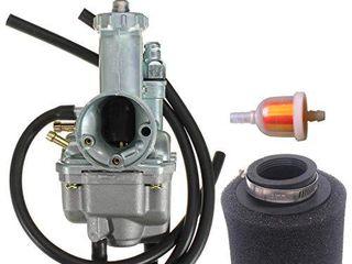 Carburetor With air filter for Kawasaki Bayou 220 KlF220 KlF 220 1988 1998   Bayou 250 KlF 250 2003 2011 Carb New