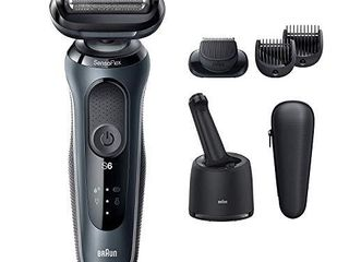 Braun Electric Razor for Men  Series 6 6075cc SensoFlex Electric Shaver with Beard Trimmer  Rechargeable  Wet   Dry Foil Shaver with 4in1 SmartCare Center and Travel Case