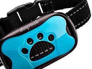 DogRook Rechargeable Dog Bark Collar   Humane  No Shock Barking Collar   w 2 Vibration   Beep Modes   Small  Medium  large Dogs Breeds   No Harm Training   Automatic Action Without Remote  Adjustable