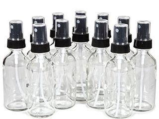Vivaplex  9  Clear  2 oz Glass Bottles  with Black Fine Mist Sprayers