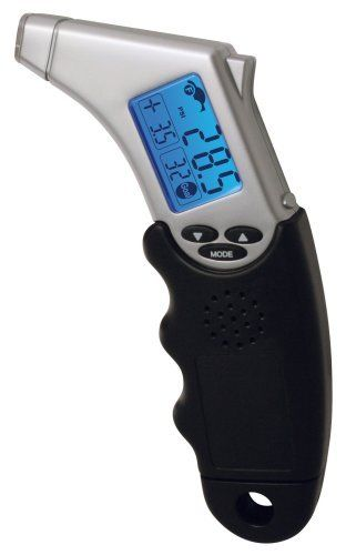 Accutire MS 4445B Programmable Talking Tire Gauge with lighted Tip and Storage Case