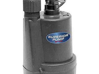 Superior Pump 91250 1 4 HP Thermoplastic Utility Pump  Black