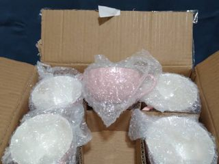 Set Of 6 Decorative Tea Cups and Plates