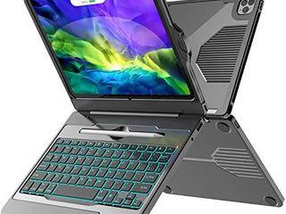 iPad Pro 11 Case 2020 with Keyboard  iPad Pro 11 Keyboard  5 in 1 USB C Hub  7 Color Backlit   Pencil Holder   Smart Magic Keyboard for 11 inch iPad Pro  2020 2018 2nd 1st Generation  Black