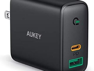 AUKEY Focus iPhone Fast Charger 30W 2 Port USB C Charger for iPhone 12 12 Mini 12 Pro Max  PD 3 0 Fast Charger  USB C Wall Charger for iPhone 11 Pro Max 8 Plus  Pixel 5  MacBook Air  iPad Pro  Switch