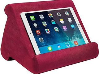 Ontel Pillow Pad Multi Angle Soft Tablet Stand  Burgundy