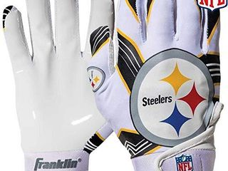 Franklin Sports Youth Football Receiver Gloves For Kids  NFl Team logos and Silicone Palm
