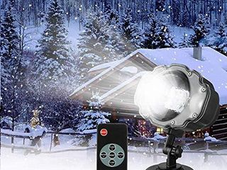 Snowfall lED light Projector Sanwsmo Christmas Snow light Snow Falling Projector lamp Dynamic Snow Effect Spotlight for Garden Ballroom  Party Halloween Holiday landscape Decorative Waterproof Remote