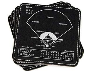 Greatest Red Sox Vintage Plays  leatherette Coasters  Set of 4