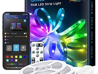Govee 32 8ft Color Changing lED Strip lights  Bluetooth lED lights with App Control  Remote  Control Box  64 Scenes and Music Sync lights for Bedroom  Room  Kitchen  Party  2 Rolls of 16 4ft