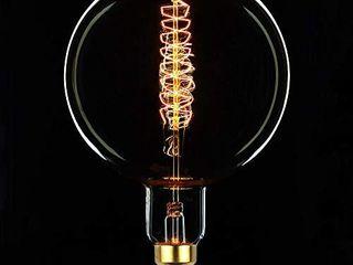 TIANFAN Giant Edison Bulb G200 Vintage Incandescent 60W Spiral Filament 110 130V E26 Big Size light Bulb  G200