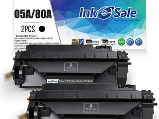 INK E SAlE Compatible 80A 05A Toner Cartridge Replacement for HP CF280A CE505A for HP laserJet Pro 400 M401d M401dn M401n M401dw M425dn M425n M425d M425w M425dw P2055 P2055d P2055dn P2035 P2035n 2Pack