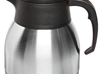 Genuine Joe GJO11955 Stainless Steel Everyday Double Wall Vacuum Insulated Carafe  1l Capacity