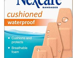 Nexcare Waterproof Cushioned Bandages  Nexcare  20 Count  Pack of 1