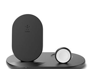 Belkin 3 in 1 Wireless Charger  Wireless Charging Station for iPhone  Apple Watch  AirPods  Wireless Charging Dock  iPhone Charging Dock  Apple Watch Charging Stand