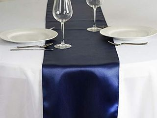 Tiger Chef 12 Pack Navy Blue 12 x 108 inches long Satin Table Runner for Wedding  Table Runners fit Rectange and Round Table Decorations for Birthday Parties  Banquets  Graduations  Engagements