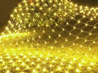Testudo Net Mesh String Fairy lights 200 lEDs  6 6 Ft x 9 8Ft  8 Modes  Outdoor Transparency String lights Christmas Decorative lights for Christmas Tree  Holiday  Party  Wedding   Warm White