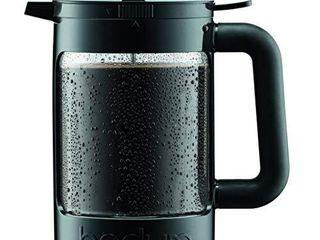 Bodum K11683 01WM Bean Cold Brew Coffee Maker  51 Oz  Jet Black  slightly Damaged See pictures below