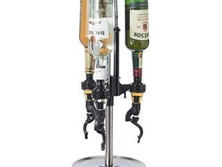 Oggi Professional 3 Bottle Revolving liquor Dispenser  Stainless Steel  7186