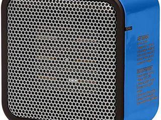 Amazon Basics 500 Watt Ceramic Small Space Personal Mini Heater   Blue