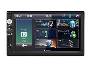 Double Din Car Stereo in Dash  FM Receiver with Remote  Car MP5 Media Player with 7inch Digital Resistive Touch Screen Bluetooth Car Audio Mirror link Monitor for Android   iOS