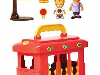 Daniel Tiger s Neighborhood Deluxe Electronic Trolley Vehicle with 2 Songs  12 Phrases  Trolley Sounds   light  Daniel   Mom Tiger Figures Included  For Ages 3