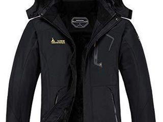 MOERDENG Women s Waterproof Ski Jacket Warm Winter Snow Coat Mountain Windbreaker Hooded Raincoat