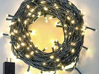 Extra long 95FT 240 lED Christmas String lights Outdoor Indoor  Ultra Bright Christmas Tree lights Waterproof Green Wire 8 Modes Plug in Fairy String lights for Garden Wedding Party  Warm White