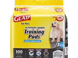 Glad for Pets Black Charcoal Puppy Pads   Puppy Potty Training Pads That ABSORB   NEUTRAlIZE Urine Instantly   New   Improved Quality  100 count